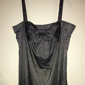 Silver shimmery tunic tank top